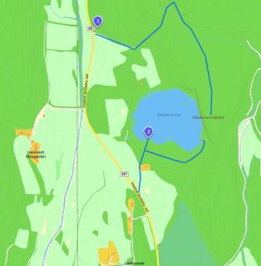 Kart utarbeidet av Kristian Andre Gallis.